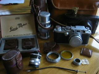 Vintage Leica 35 Mm Camera With