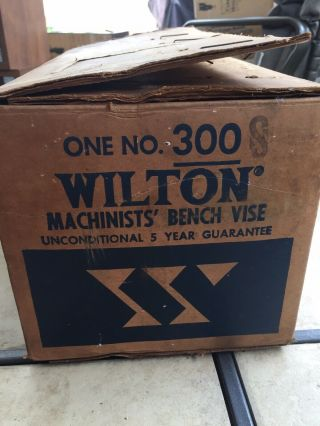 Vintage Wilton Machinists Bench Vise Model 300 S