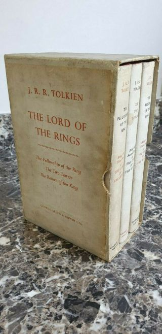 Tolkien: The Lord Of The Rings - Rare 1st Edition Set In Slipcase