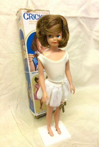 60s Rare Boxed American Character Cricket Ballerina Doll,  Tressy's Cousin,  Toots