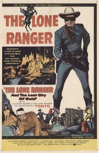 Movie 16mm Lost City Of Gold Feature Vintage 1958 Film Adventure Lone Ranger