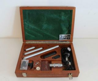 Vintage Renishaw Probe Kit Ph1 Tp2 W/ 3x Extentions Tips In Wooden Carrying Case