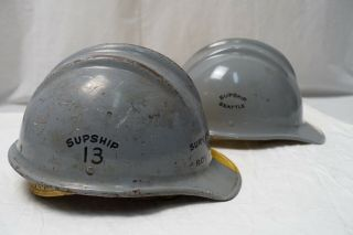 VINTAGE BULLARD 502 HARD HAT FIBERGLASS HELMET HARD BOILED W/SUSPENSION 5