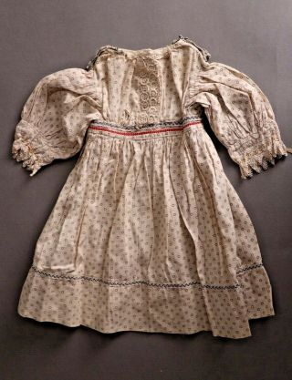 Antique Vintage Beautifully Detailed Dress For French,  German Bisque Doll