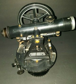 Vintage W&le Gurley Survey Transit Scope In Case With Tri - Pod & Tools