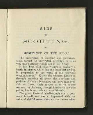 1899 - Boy Scout Book - Aids to Scouting - Baden Powell - 1st Edition - RARE 3