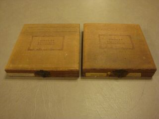 2 Vintage Boxes Kingsley Stamping Machine Hot Foil Stamps Gothic 4 Caps
