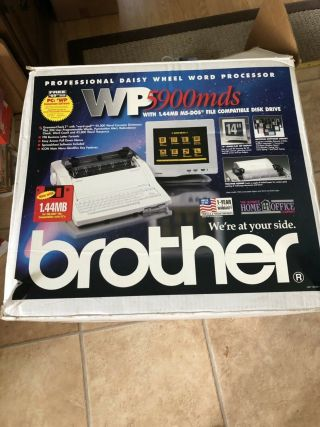 Vintage Brother Wp - 5900 Mds Word Processor & Monitor Electric Typewriter