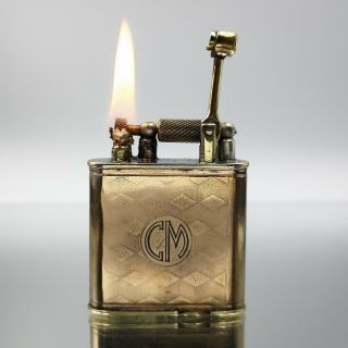 Extremely Rare Alfred Dunhill Combo C.  A 1929 Petrol Feuerzeug Lighter