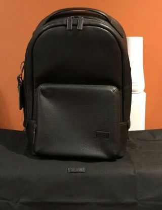 Rare Tumi - Harrison Webster Black Pebbled Laptop Backpack - 15 Inch