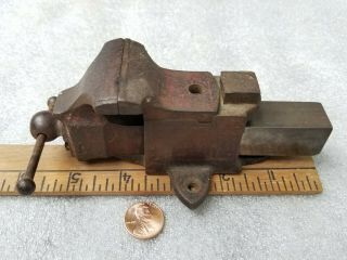 "Vintage Minature Bench Vise,  1 5/8 "" Jaws,  5 5/8 "" Long.  Prentiss Jewelers Vise?"