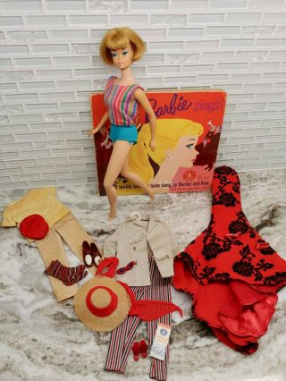 Vintage Barbie Bend Leg American Girl Doll,  Ash Blonde,  Open Road Outfit