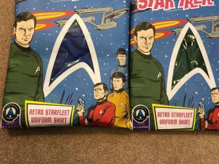 Anovos Star Trek Animated Shore Leave Tunic Shirt Complete Set,  Extremely Rare 6