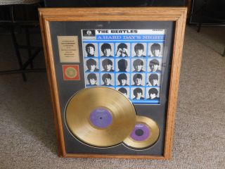 """The Beatles """" A Hard Days Night """" 24 Kt Gold 2 Records """" Rare """" Special Edition A"""