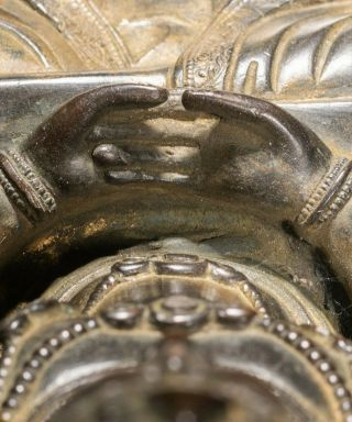 Chinese Tibetan Antique Bronze Buddha 9