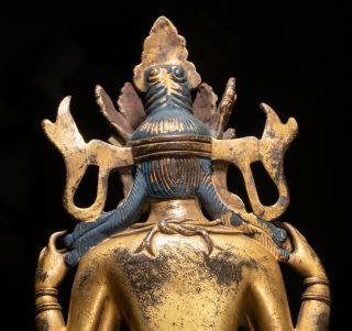19th C.  Chinese Tibetan Antique Gilt Bronze Buddha 10