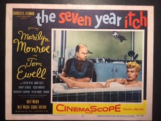 Marilyn Monroe Vintage Movie Lobby Card For The Seven Year Itch 1955