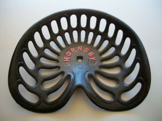Vintage Hornsby Cast Iron Tractor Plow Seat Restored Farming