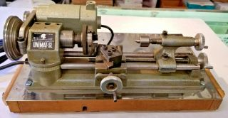 Vintage Unimat Sl By Emco Mini Lathe Made In Austria,  W/accessories,  Cond.