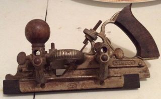 Vintage Stanley No 45 Hand Combination Plane Planer Wood Handle