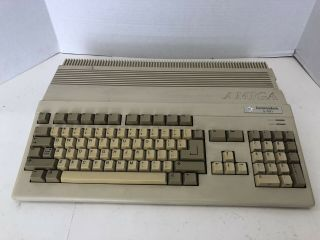 , Vintage Commodore Amiga 500 Computer From Late 1980s