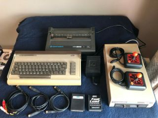 Vintage Commodore 64 Computer With Disk Drive,  Printer And More -