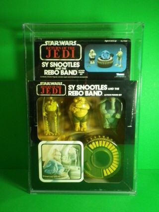Vintage Kenner Star Wars Sy Snootles & Rebo Band Factory W/acrylic Case