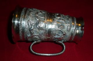 Very Decorative Early 20th Century Indian Silver Double Ended Spirit Measure