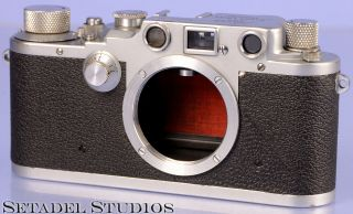 Leica Iiic Wartime Rangefinder Camera Red Shutter Curtain Rare 1st Year Made