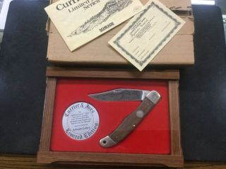 Vintage Schrade Limited Edition Usa Currier & Ives Lightning Express Train Knife