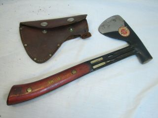 Rare Plumb Toma Boy Scouts Of America Hatchet Camping Axe Wood Tool Sheath Decal