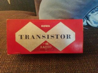 Rare Vintage Kowa Kt - 62 Bluetransistor Radio With Box