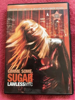 Gimme Some Sugar Lucy Lawless Nyc Dvd Xena Concert 2007 Rare Creation Convention