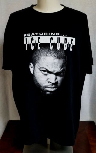 Featuring.  Ice Cube Rare 2x T - Shirt Promo 2 - Sided 1997 Vintage Dr Dre