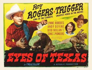 Movie 16mm Eyes Of Texas Feature Vintage Drama 1948 Film Toy Rogers Western