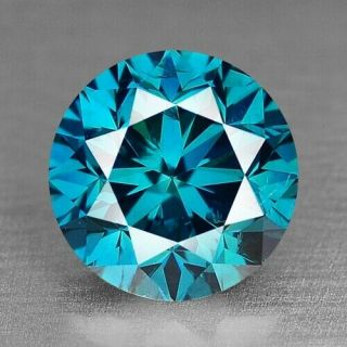 0.  84 Cts Very Rare Fancy Sparkling Vivid Blue Color Natural Loose Diamond