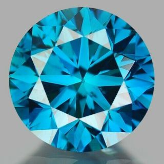 0.  78 Cts Very Rare Fancy Sparkling Vivid Blue Color Natural Diamond Si1
