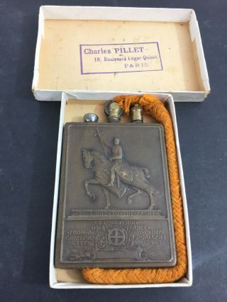 Vintage Ww1 1918 Charles Pillet Trench Pocket Lighter - - In The Box