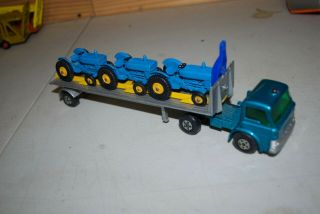 Vintage Very Rare Matchbox Kings K - 20 Tasker Transporter Ford Tractor Unit