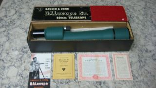 Bausch & Lomb Balscope 60 Zoom Telescope - Vintage