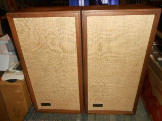 "Pair Klh Model Seventeen "" 17 "" Vintage Acoustic Suspension Speaker System"