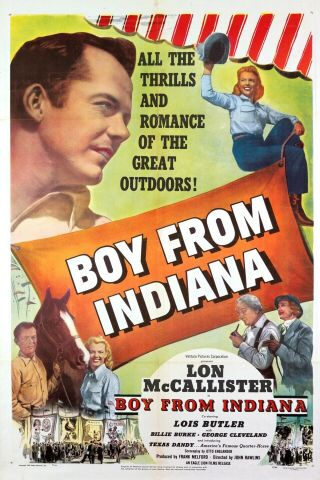 16mm Boy From Indiana Feature Movie Vintage 1950 Drama Film Western