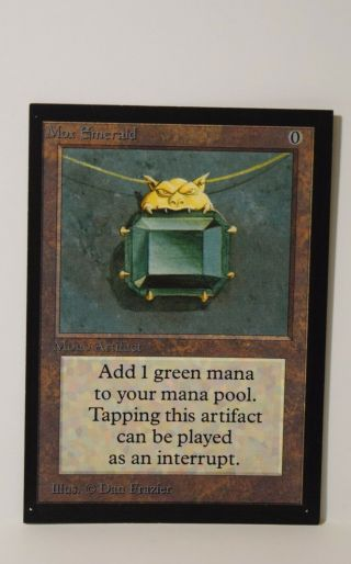 Mtg Magic The Gathering - Collectors Edition Ce - Mox Emerald X1