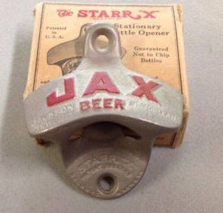 Vintage Jax Beer Wall Mount Bottle Opener - Jackson Brewing Co. ,  Orleans