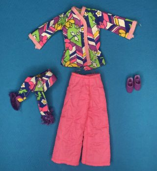 1972 Vintage Kenner Blythe Doll Lounging Lovely Outfit Clothes Shoes