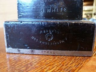 Rare Mathieson Dovetailed Steel Infill Panel Plane - Norris - Spiers 3