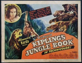 Vintage Movie 16mm Jungle Book Feature 1942 Film Adventure Drama