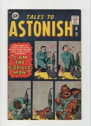 Tales To Astonish 28 Fn - 5.  5 Vintage Marvel Atlas Pre - Hero Horror Silver 10c