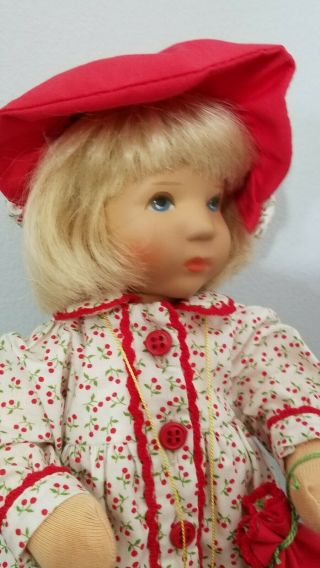 Kathe Kruse Cloth Doll Monica 10 In Limited Edition 3
