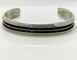 Vintage Tom Hawk Navajo Indian Sterling Silver Cuff Bracelet